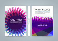 Modern colorful vertical music party banners. Vector illustration Stock Photos