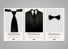 Modern colorful vertical official clothing banners. Wedding ceremony invitation. Royalty Free Stock Image