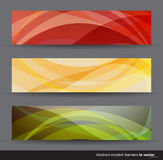Modern colorfull abstract  banners Stock Image