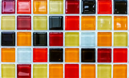 Modern colourful mosaic wall Royalty Free Stock Image