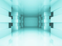 Modern Column Architecture Abstract Design Background. 3d Render Illustration Stock Photography