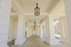 Modern columns. Image taken  of modern columns in pimlico, london, england Royalty Free Stock Photography