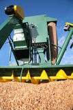 Modern combine with grains Royalty Free Stock Images