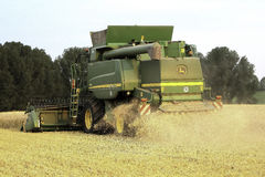 Modern Combine Harvester Stock Photo