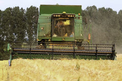Modern Combine Harvester Royalty Free Stock Photography