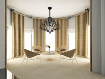 Modern comfortabel binnenland Royalty-vrije Stock Afbeelding