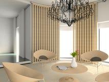 Modern comfortabel binnenland Royalty-vrije Stock Foto