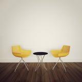 Modern comfortabel binnenland met het 3d teruggeven royalty-vrije illustratie
