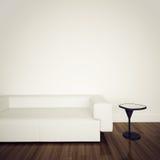 Modern comfortabel binnenland met het 3d teruggeven Stock Afbeelding
