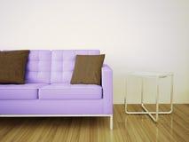 Modern comfortabel binnenland met het 3d teruggeven vector illustratie