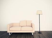 Modern comfortabel binnenland met het 3d teruggeven Royalty-vrije Stock Fotografie