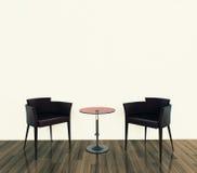 Modern comfortabel binnenland met het 3d teruggeven Royalty-vrije Stock Afbeelding