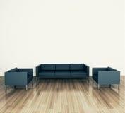 Modern comfortabel binnenland met het 3d teruggeven Stock Afbeeldingen