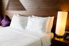 Modern comfortable  bed Stock Photos