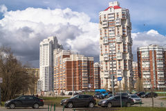Modern comfortable housing in a prestigious area for the wealthy citizens. Moscow. Stock Photography