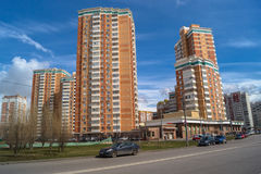 Modern comfortable housing in a prestigious area for the wealthy citizens. Moscow. Stock Photos