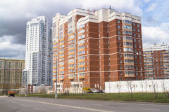 Modern comfortable housing in a prestigious area for the wealthy citizens. Moscow. Stock Image
