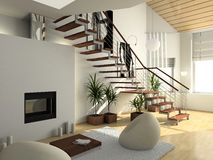 Modern comfortable interior stock photos