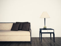 Modern comfortable interior with 3d rendering Stock Photo