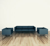 Modern comfortable interior with 3d rendering. Modern comfortable interior, 3d image Stock Images