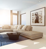 Modern comfortable living room interior Stock Images