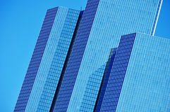 Modern commercial architecture over blue sky Royalty Free Stock Image