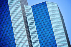 Modern commercial architecture over blue sky Stock Photography
