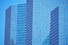 Modern commercial architecture over blue sky Royalty Free Stock Photo