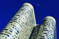 Modern commercial architecture over blue sky Stock Images