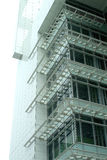 Modern commercial building. Modern steel structure commercial building upward view Royalty Free Stock Images