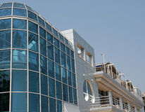 Modern commercial building. With blue sky background Stock Photography