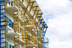 A modern commercial building in the city. Royalty Free Stock Photo