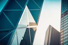 Modern commercial building close up to window Royalty Free Stock Photos