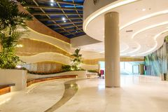 Free Modern Commercial Building Lobby,office Corridor, Hotel Passageway Royalty Free Stock Images - 153629349
