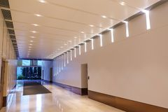 Modern commercial building lobby office corridor hotel passageway stock image