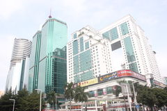 Modern commercial building in Luohu,SHENZHEN,ASIA Stock Photography