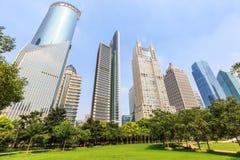 Modern commercial building scene in Shanghai Royalty Free Stock Image