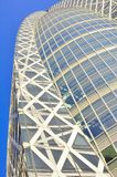 Modern commercial building in Tokyo, Japan. The picture shows a modern business building in Tokyo, famously known for its shape , that is the Cocoon Tower Stock Photography