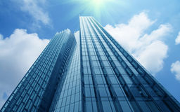 Modern commercial buildings. A beautiful commercial buildings in shanghai Royalty Free Stock Photography