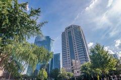 Modern buildings in Midtown Atlanta Royalty Free Stock Image