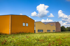 Modern commercial buildings in a newly devoloped industrial area Royalty Free Stock Photos
