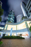 Modern Commercial Buildings. At night Royalty Free Stock Image