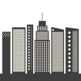 Modern Commercieel Stadsconcept royalty-vrije illustratie