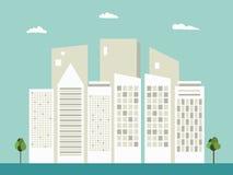 Modern Commercieel Stadsconcept vector illustratie