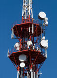 Modern communication antennas Royalty Free Stock Photo