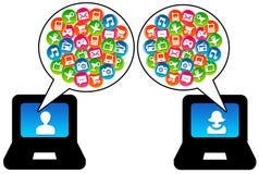 Modern communication royalty free illustration