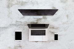 Modern communication device on top view Stock Image