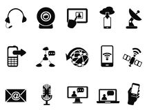Modern communication icons set Royalty Free Stock Photos