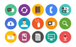 Modern communication icons set Royalty Free Stock Photo
