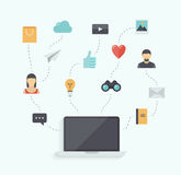 Modern communication technology flat illustration Royalty Free Stock Photography
